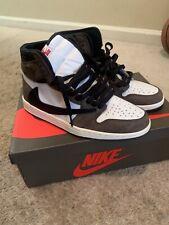 Nike Air Jordan 1 Retro High Travis Scott Basket Shoes - Sail/Black-Dark Mocha, US 11 (CD4487-100)