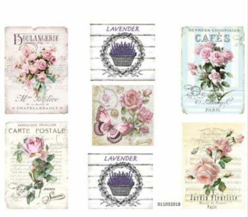 VinTaGe IMaGe AsSoRTeD PaRiS FRenCh LaBeLs SiGnS ShaBby WaTerSLiDe DeCALs