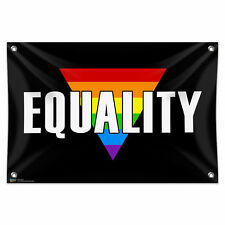 """Marriage Equality - Gay Lesbian Rights Rainbow LGBT 33"""" x 22"""" Vinyl Banner Sign"""