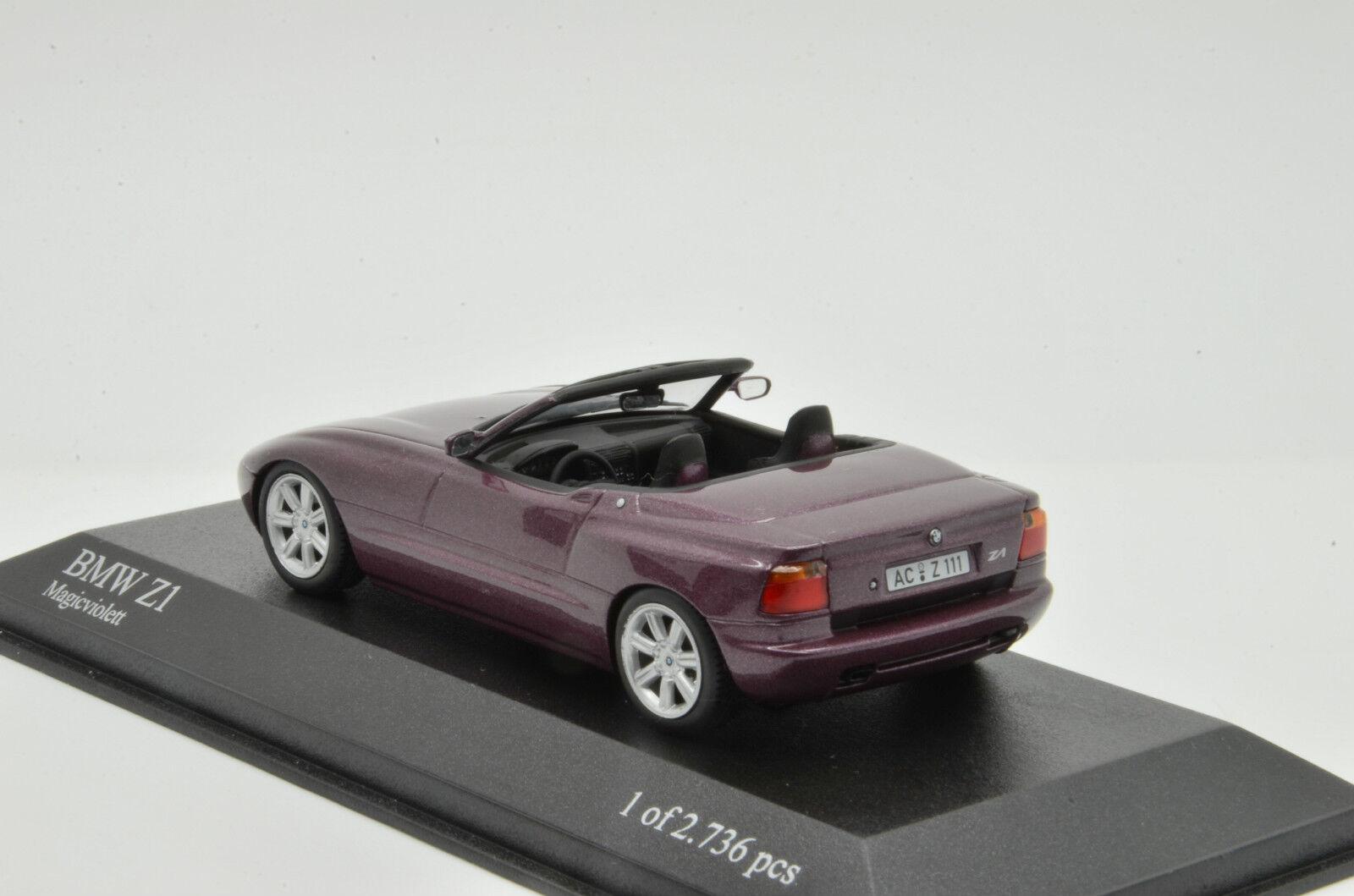 BMW Z1 1987 Purple Metallic Minichamps Minichamps Minichamps 020101 1 43 f7275b