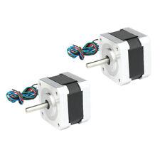 2 Pcs Small Stepper Motor 03nm 09 Deg 12v 04a For 3d Printer Nema17