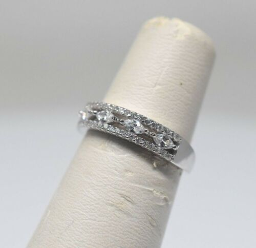 Unique Cluster Band Ring With Marquise Cubic Zirconia Accents Size 6 8 7