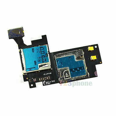 SIM + SD MEMORY SLOT HOLDER FLEX CABLE FOR SAMSUNG GALAXY NOTE 2 N7100 #A169