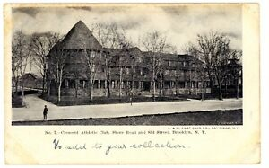 Bay-Ridge-Brooklyn-NYC-NY-CRESCENT-ATHLETIC-CLUB-ON-SHORE-ROAD-Postcard