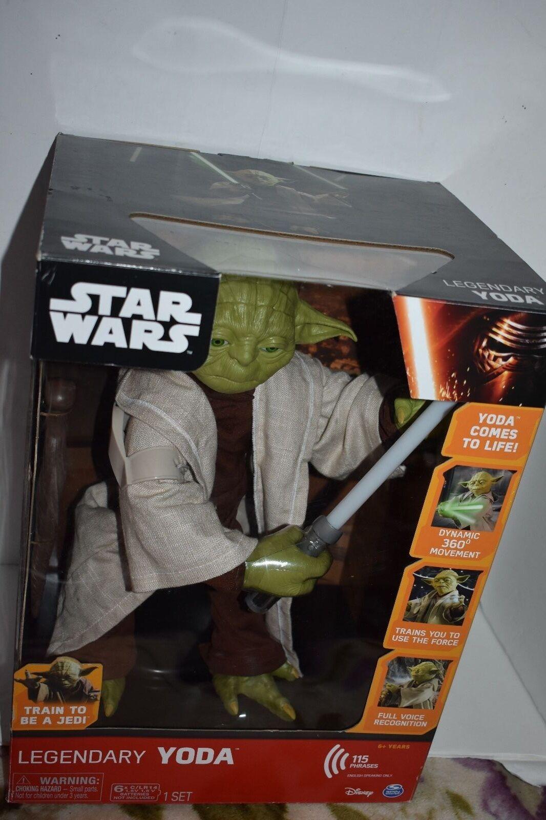 servicio honesto Estrella Wars Jedi Maestro Yoda legendaria caja de presentación presentación presentación edición 16 pulgadas hablando Nuevo  mejor vendido