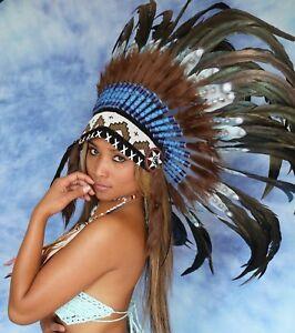 Indianer Kopfschmuck  War bonnet  Indianerschmuck Little Big Horn headdress2021