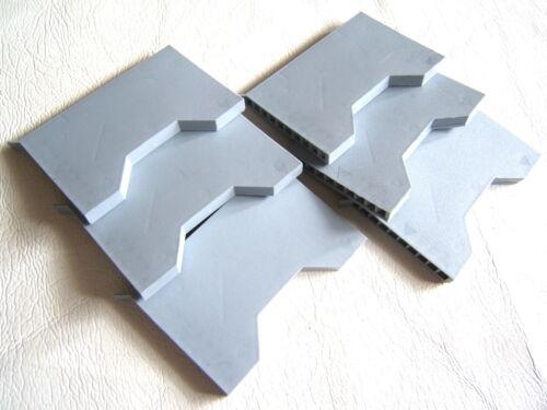 6x G950 MANTHORPE GREY CAVITY WALL WEEP//VENT-SLEEVE VENTILATOR 100x9x85mm 220mm²