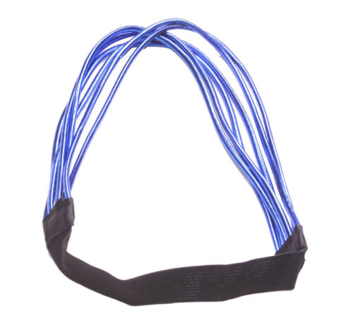 ZX241 electric blue strand// black stretchy hair band Glamorous /& enigmatic