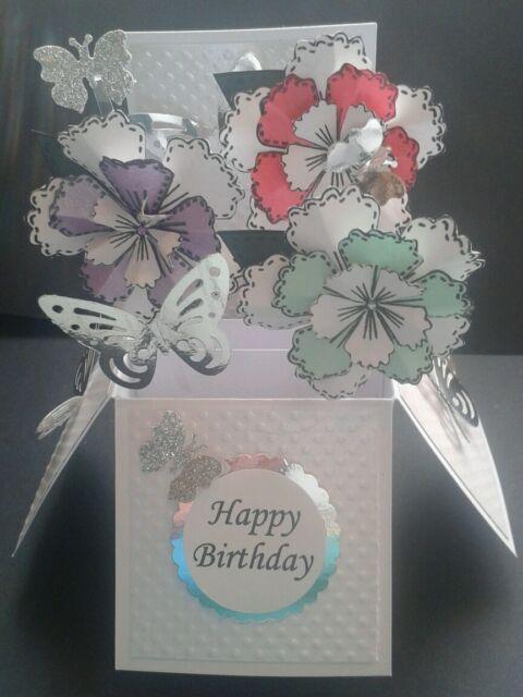 Beautiful handmade Birthday/any occasion pop up card