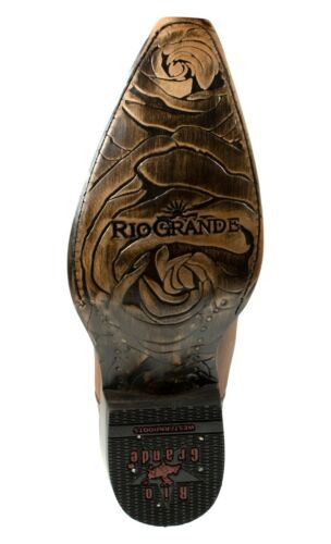 Details about  /Women/'s Cowgirl Western Boots Rio Grande Genuine Leather Color Honey