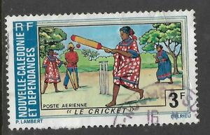 NEW-CALEDONIA-1975-TOURISM-CRICKET-MATCH-1-Value-USED-Space-Filler-No-4