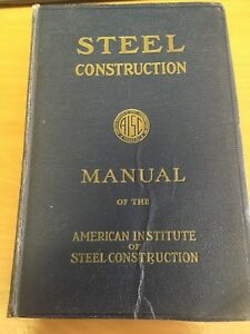 aisc steel construction manual 5th edition 1956 20th printing free rh ebay com steel construction manual 5th edition Steel Construction Manual 15th Edition