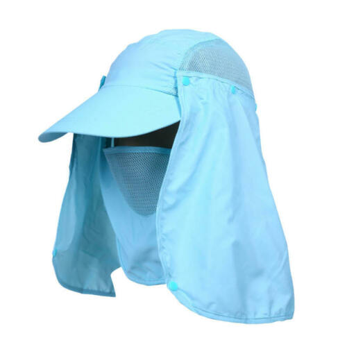 Outdoor UV Protection Ear Flap Neck Cover Sun Hat Cap for Fishing HuntingHiking.