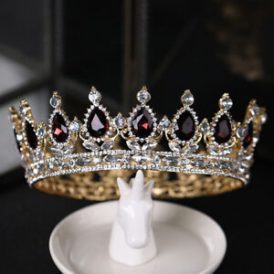 EB-Baroque-Queen-Sparkly-Rhinestone-Tiara-Crown-Wedding-Bridal-Prom-Headwear-Co