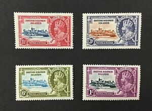 BJ-Stamps-SOLOMON-ISLANDS-60-63-1935-KGV-Silver-Jubilee-MNH-CV-44-00