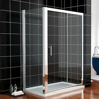 1200x700mm Sliding Shower Enclosure And Tray Cubicle Screen Glass Door + Waste