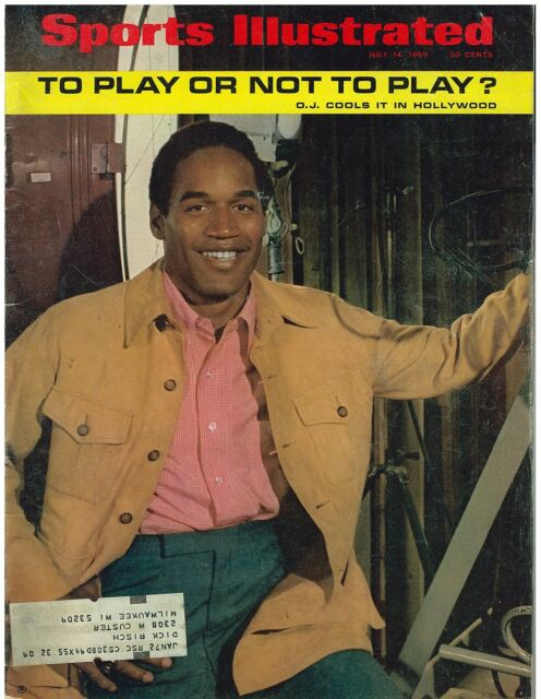 July 14, 1969 issue of Sports Illustrated O. J. Simpson Cover