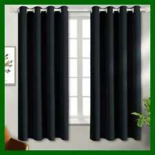 Black Blackout Curtains For Bedroom Grommet Thermal Insulated Room Dar 52W X 63L