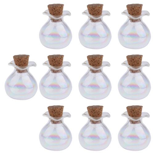 10 Stück DIY Glasfläschchen mit Korkverschluss kleine Glasflaschen Flasche