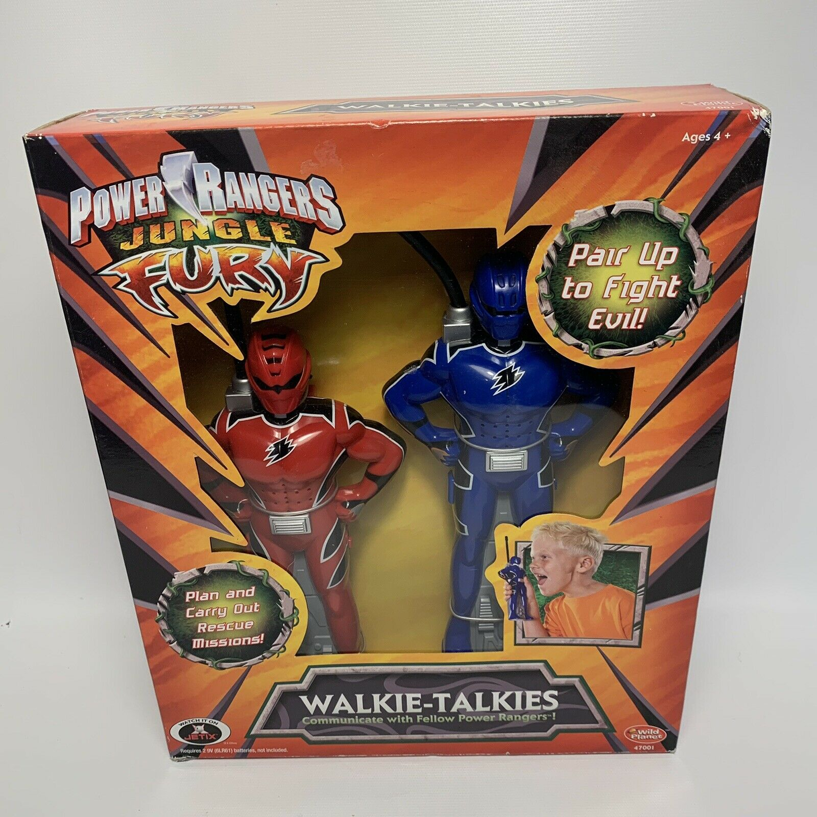 Vintage Power Rangers Jungle Fury Walkie Talkie figuras 2006 3883K-Nuevo Sellado