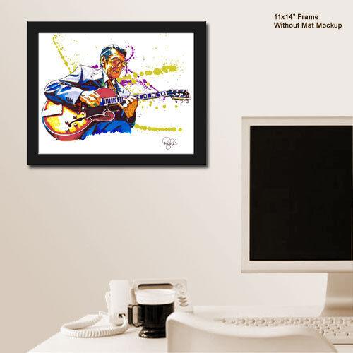"Tal Farlow Bebop Jazz Guitar Virtuoso 11x14/"" Music Art Print Poster"