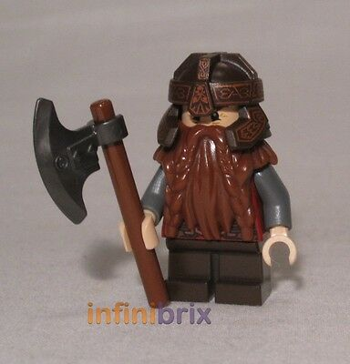 DIM007 NEW LEGO GIMLI FROM SET 71220 THE HOBBIT AND THE LORD OF THE RINGS