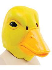Full Overhead Yellow Duck Rubber Duckie Latex Head Mask Donald Daffy Fancy Dress
