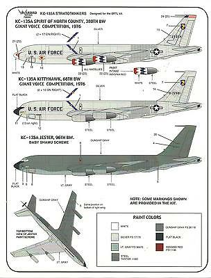 Warbird Colorful KC-135A Stratotanker Decals 1/72 008 Thunderbird Like Scheme