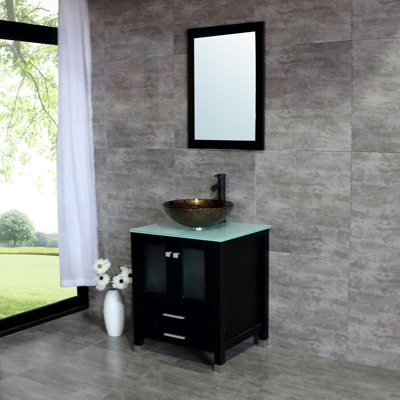 25 Vessel Sink Bathroom Vanity Cabinet