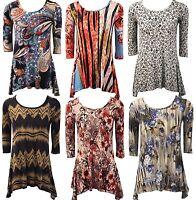 New Womens Plus Size Pleated Tunic Uneven Hem Top Ladies Dress 16 18 20 22 24 26