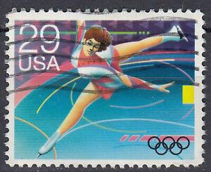 USA-Briefmarke-gestempelt-29c-Olympia-Sport-Eiskunstlauf-266
