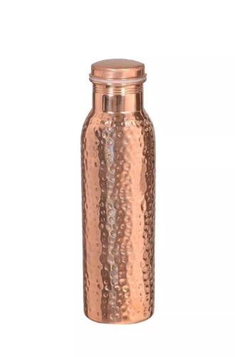 Pure Cuivre Martelé bouteille d/'eau//ballon Étanche 1Ltr prestations de santé Ukseller