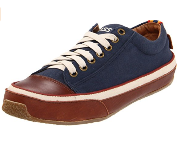 Fossil Barrett Lace Ups Navy Suede with Leather Finish Mens shoes size US 8-12