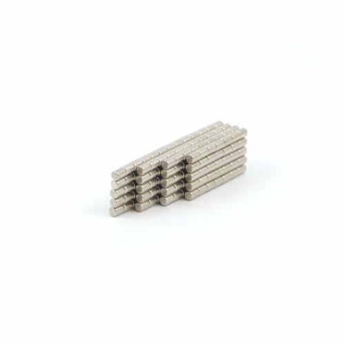 N52 1.5mm dia x 2mm tiny Neodymium rod magnets DIY MRO craft fridge SMALL PACKS