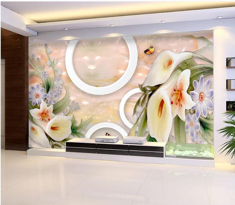 3D Gardnia Fleur 3 Photo Papier Peint en Autocollant Murale Plafond Chambre Art
