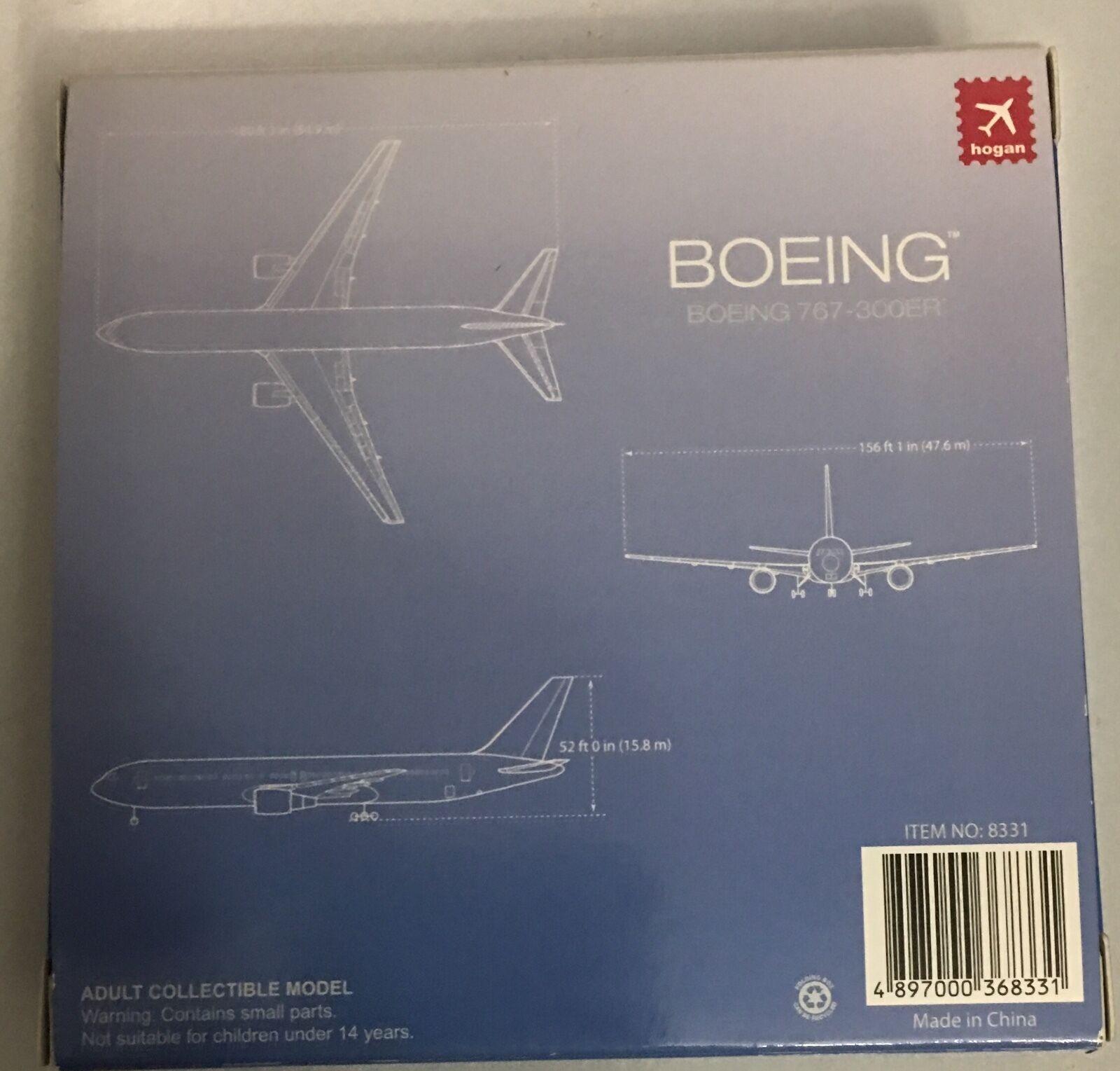 Hogan Hogan Hogan Air Force Boeing 767-300ER 1 500 SCALE NIB Model 20b72d