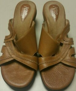 CLARKS ARTISAN BROWN WOMENS LEATHER