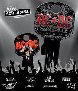 NEU: Fanschlüssel Rockbands - Univ. Schlüsselrohli<wbr/>ng U15D Lizenzierte Fanartikel