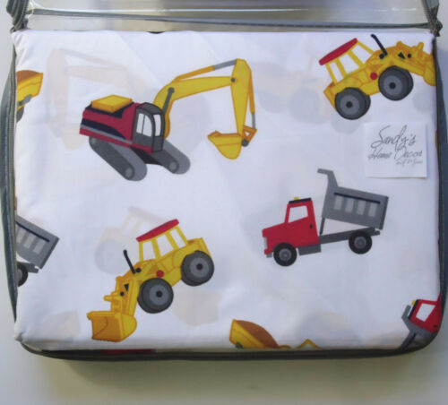 Boy Zone TRACTOR DUMP TRUCK 4pc FULL BED SHEET SET Kids CONSTRUCTION Red COTTON