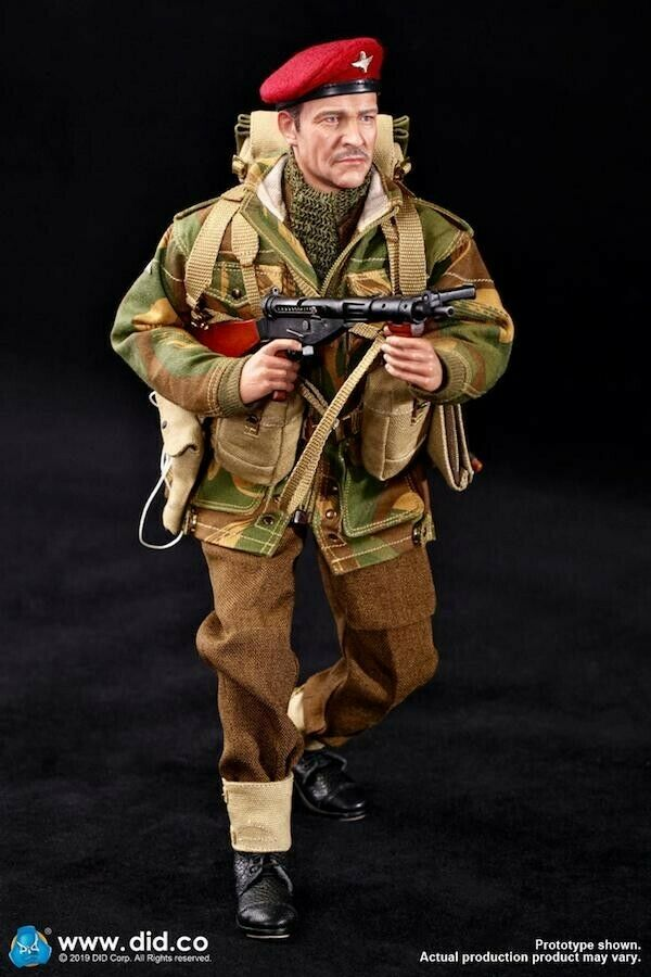 Did dragon action figure ww11 british paratrooper roy 1 6 12'' boxed  cyber hot