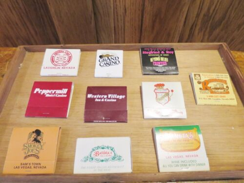 Las Vegas & Laughlin Nevada Casino Hotel Matchbooks Lot of 10