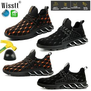 Construction-Indestructible-Shoes-Mens-Cushioned-Steel-Toe-Cap-Work-Safety-Boots