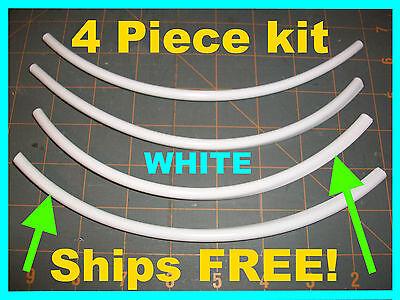 edge PROTECTOR TRIM (4 piece kit) 8''  WHITE  car DOOR EDGE GUARDS fits: NISSAN