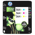 3 Color Set HP 564 XL Ink Genuine Cartridges Cyan Magenta Yellow For B8500