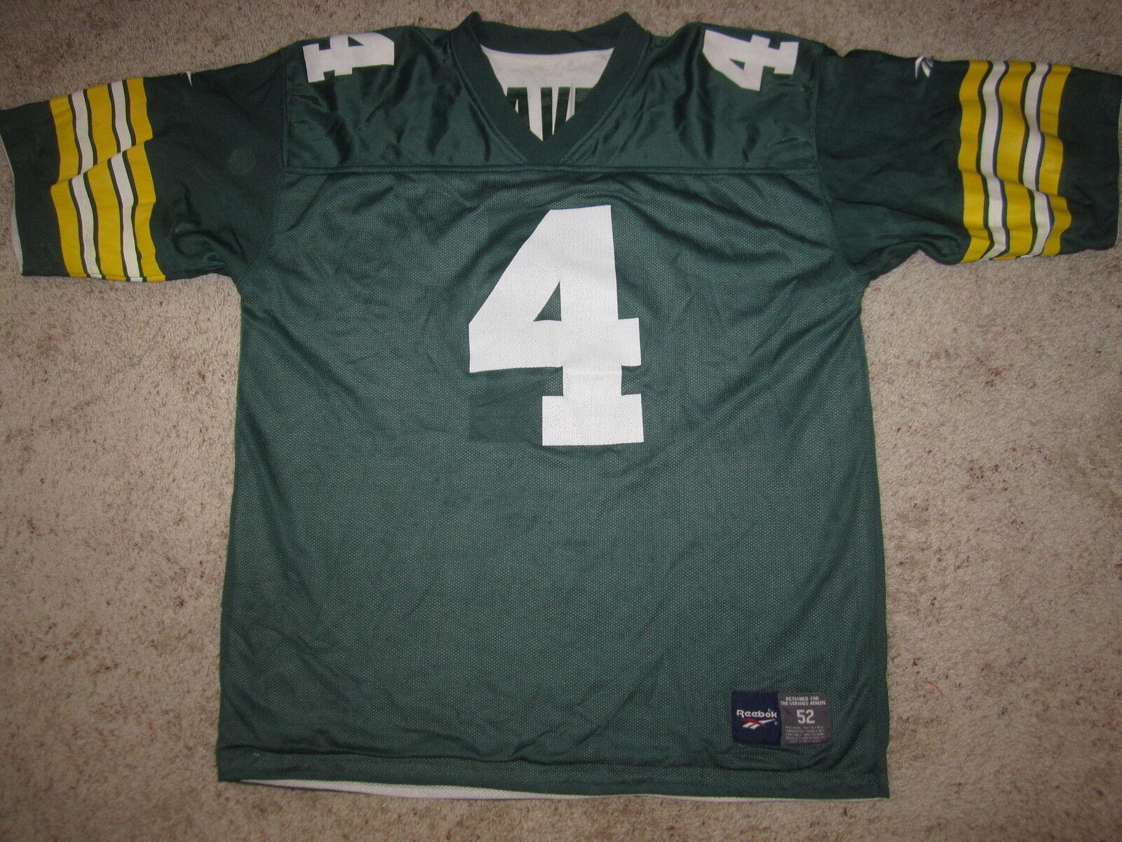 Brett Favre verde Bay Packers Reebok 2in1 Camiseta 52