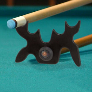 Moose-Head-Pool-Billiard-Snooker-Cue-Stick-Rest-Bridge-9-Slip-On-Spider-Bat-X2F8