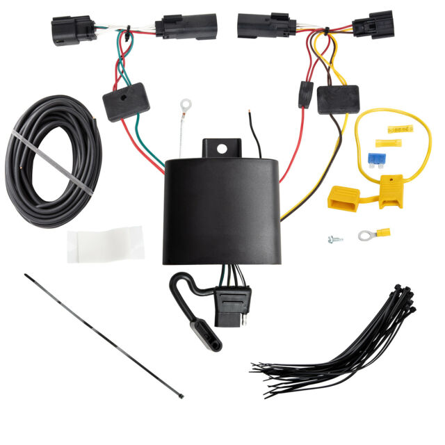 Tekonsha 4 Flat Trailer Hitch Tow Wiring for 2019-2021 Jeep Cherokee  118779