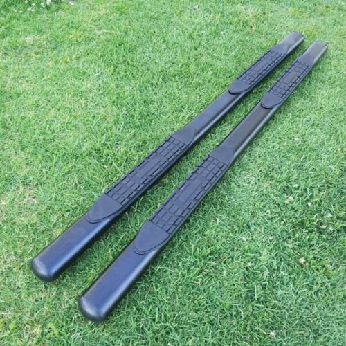 """For 99-16 FORD F250//F350 Superduty Crew Cab 4/"""" Side Step Running Board BLK Oval"""