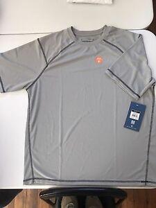 White Sierra Men/'s Techno Long-Sleeve 1//4 Zip Performance Shirt  color ash
