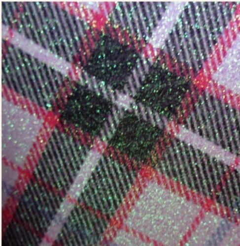 GLITTER TARTAN LEATHER SIZE A4  BOWS//CRAFTS CHOICE OF COLOUR